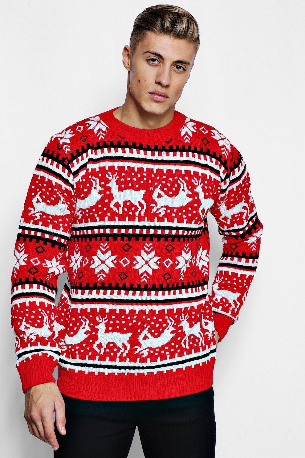 finest selection 957ac 0b781 Maglione natalizio con renne in stile Fair Isle