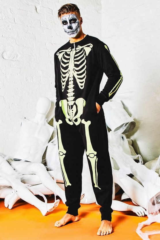 Glow In The Dark Skeleton Onesie