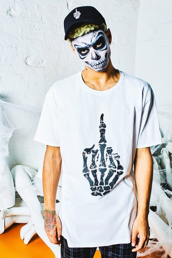 Halloween Middle Finger Design T-Shirt