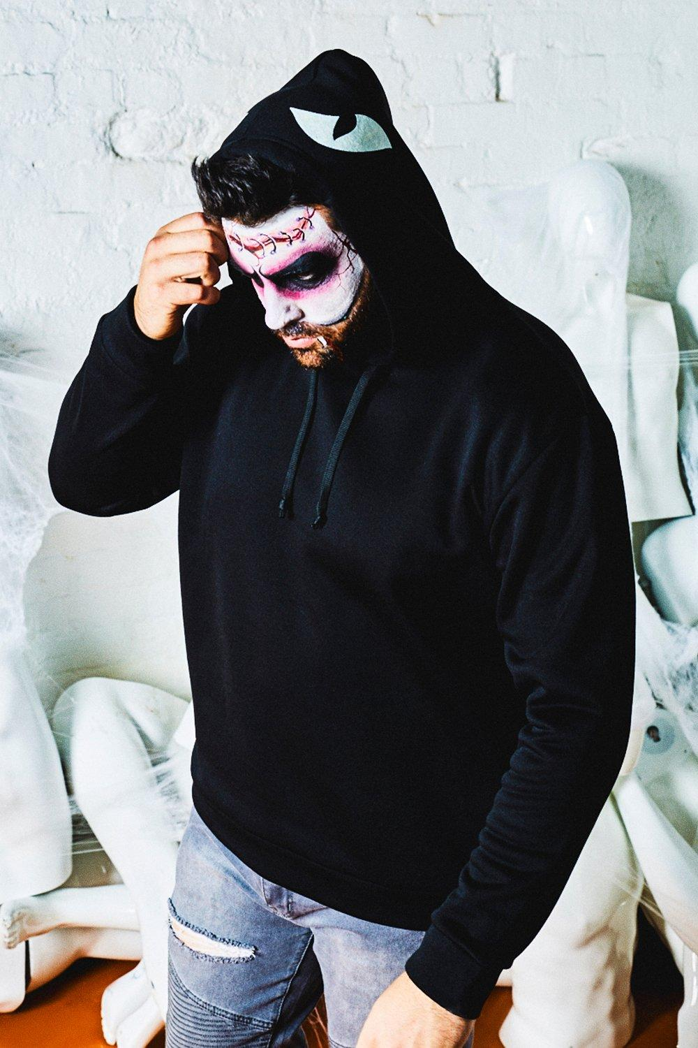 Big & Tall Halloween Eyes Printed Hood Hoodie