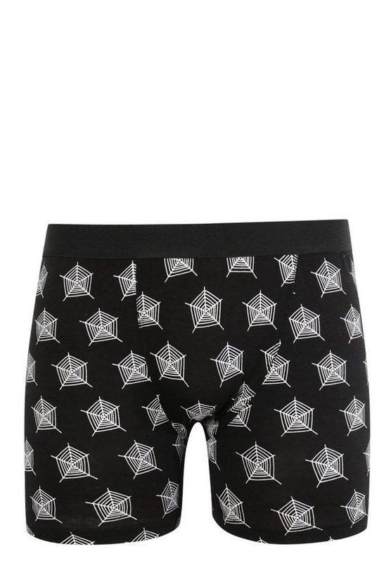 Halloween Spider Web Design Boxers
