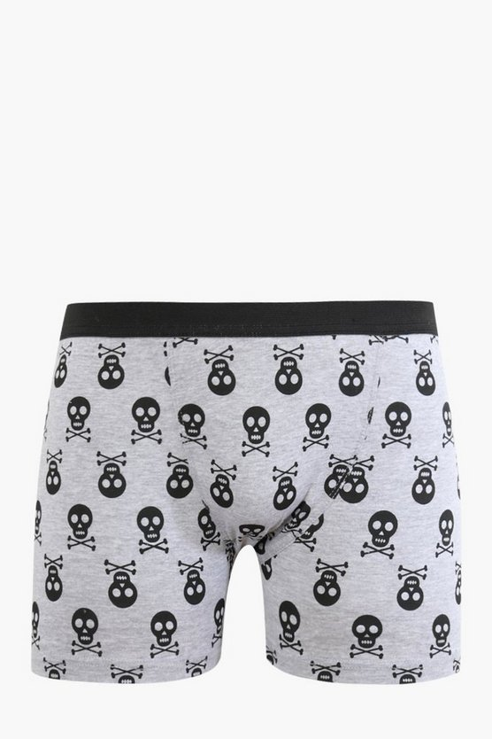Halloween Skull And Cross Bones Design Boxers