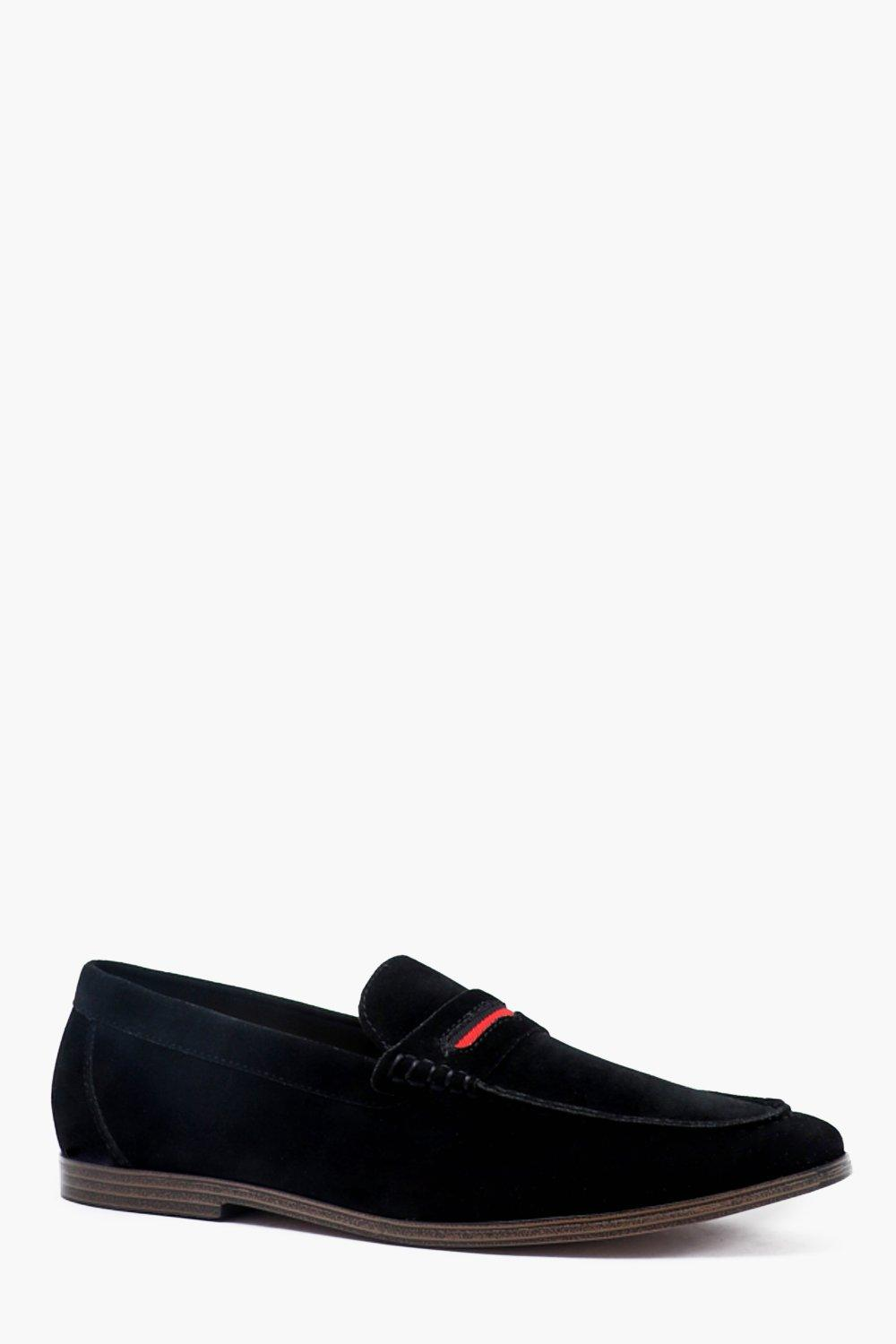 Faux Suede Tape Detail Loafer