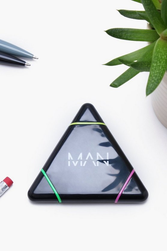 Man Stationary Triple Highlighter