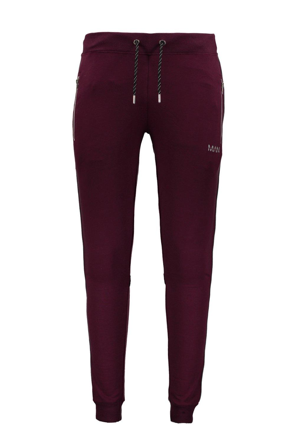 With Muscle Jogger Reflective wine Piping Fit zxwZnE