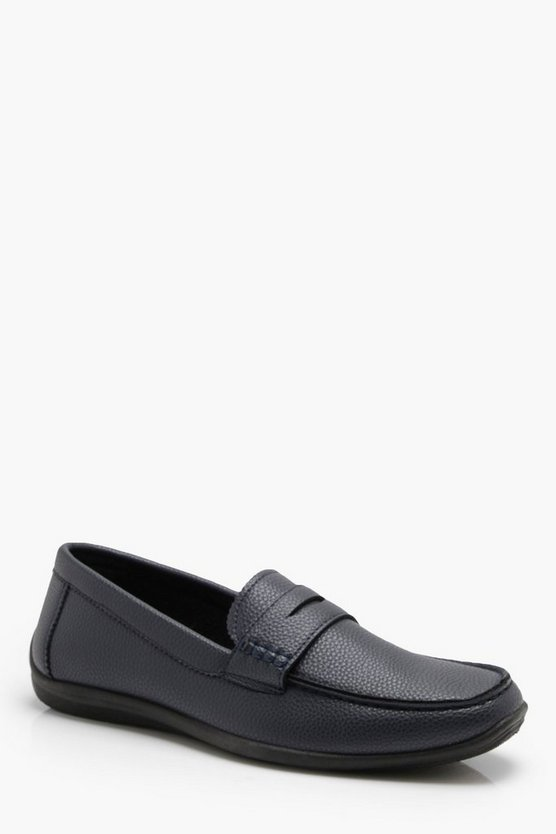 Textured Faux Leather Loafer