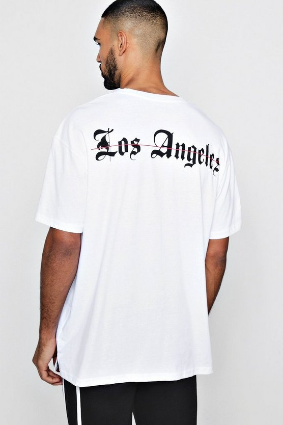Extreme Oversized Los Angeles Back Print