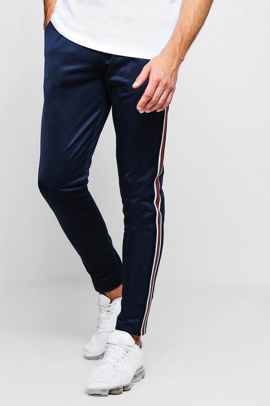 Skinny Fit Tricot Taped Joggers