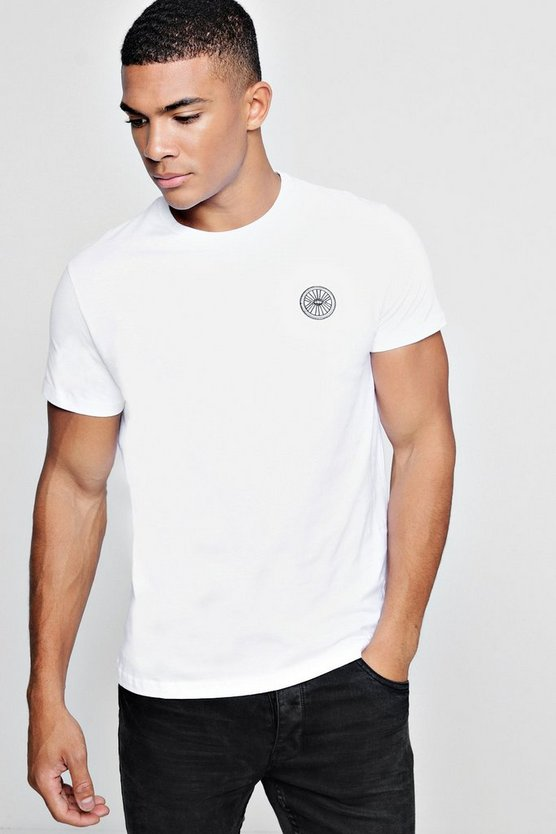 Circle Eye Embroidered T-Shirt