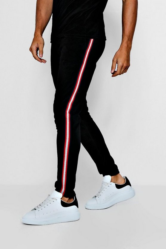 Velour Metallic Tape Smart Jogger