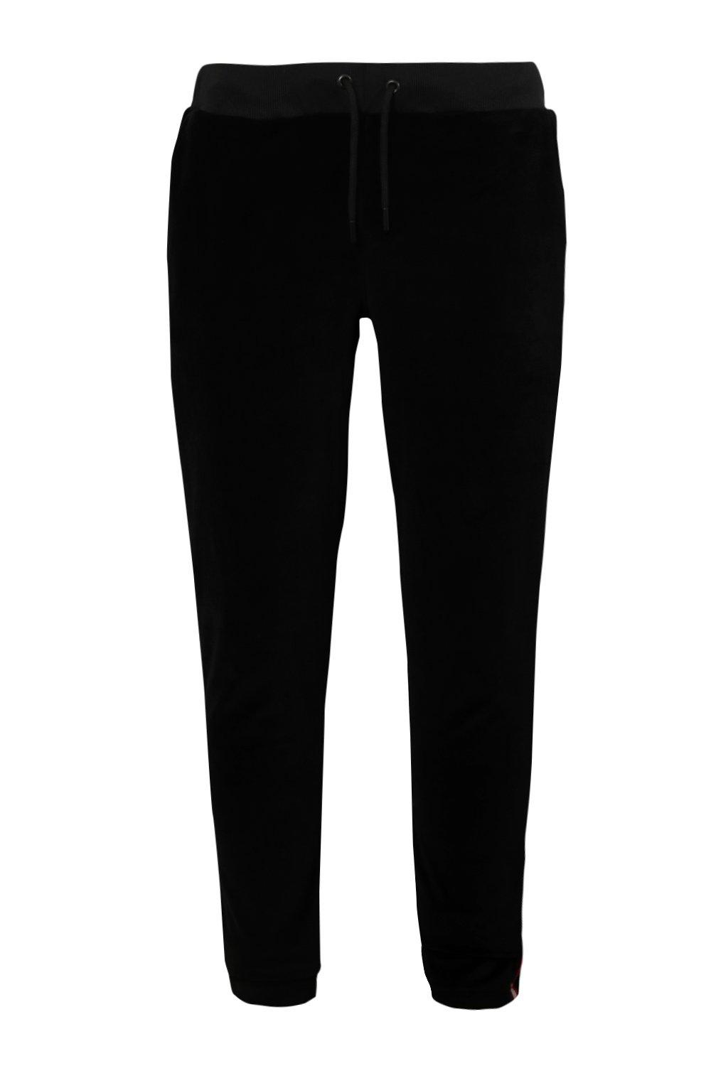 Velour Tape Jogger Smart Metallic black qrx0qTwn