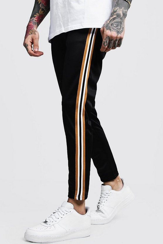 Taped Tricot Cropped Joggers