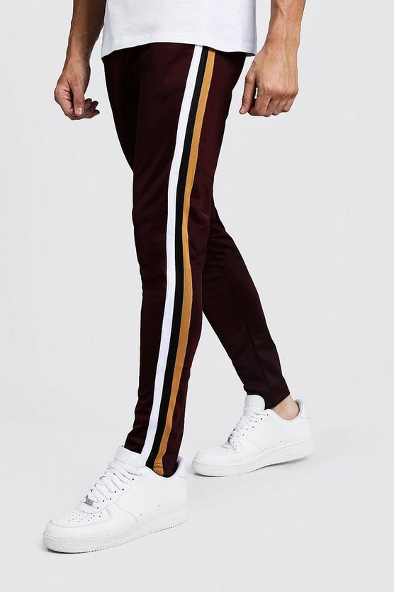 Tricot Cropped Tape Detail Jogger