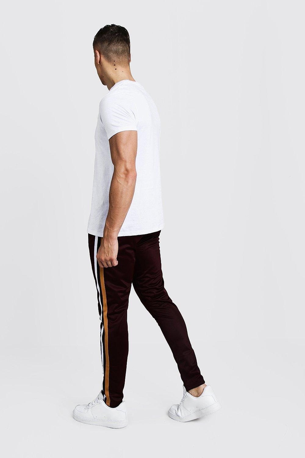 Jogger Tape wine Detail Cropped Tricot OHwXtt