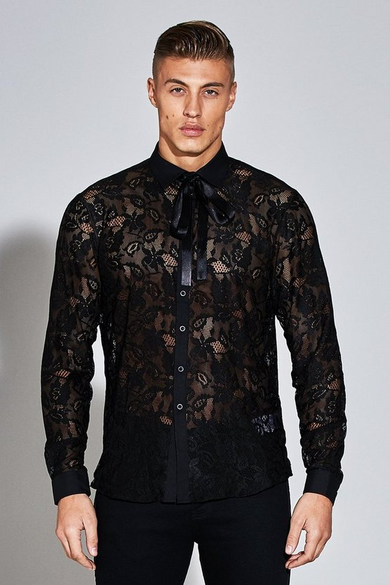 Premium Long Sleeve Lace Shirt