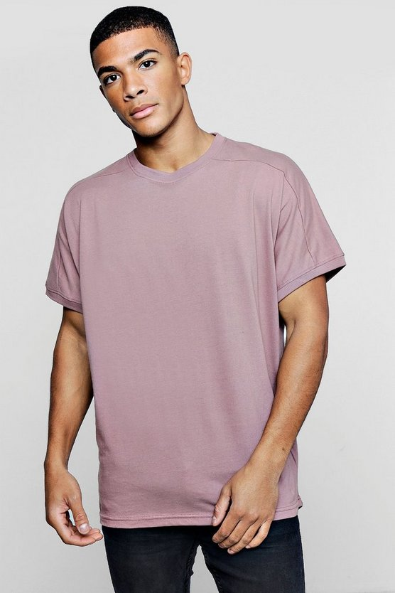 Loose Fit T-Shirt With Rib Cuff Sleeves