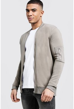 Bomber MA1 coupe fit, Kaki, Homme