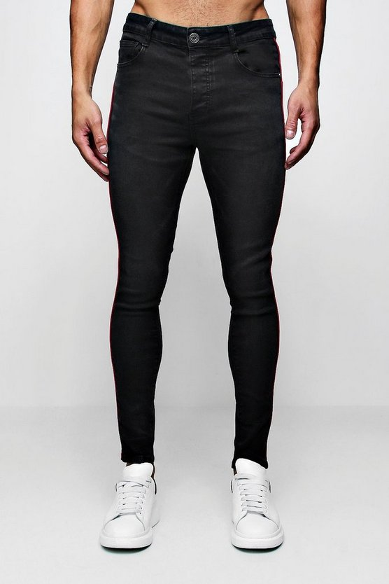 Super Skinny Jeans With Piped Side Seam