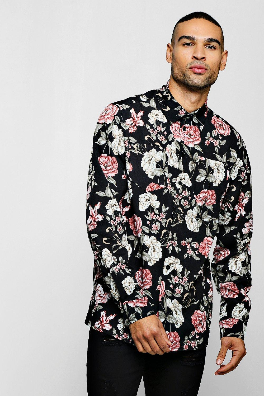 Long Sleeve Floral Print Shirt
