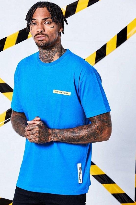 Yellow Box Printed Loose Fit Long Sleeve T Shirt by Boohoo Man
