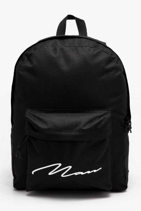 Nylon Rucksack with Man Script