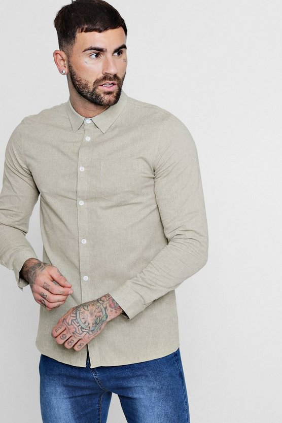 Long Sleeve Nepp Oxford Shirt