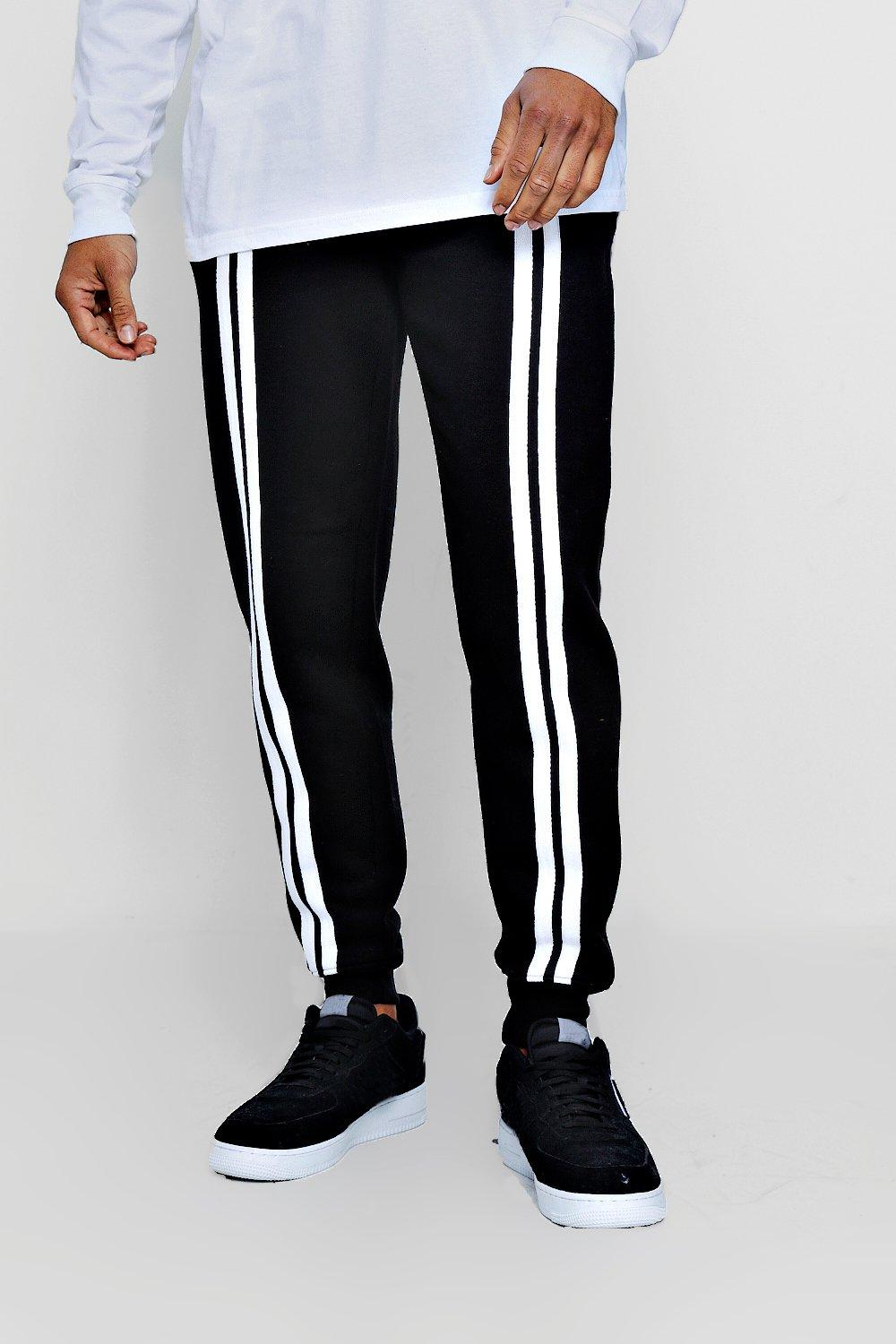With Stripes black Jogger Front Regular 5q7wYaW