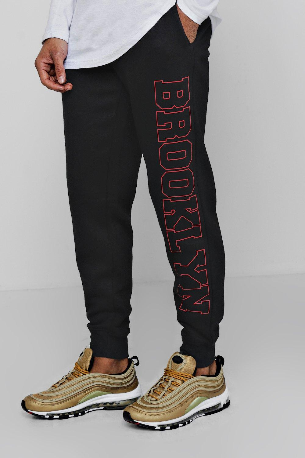 Brooklyn Side black Jersey Printed Joggers Hq15q
