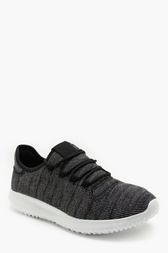 Knitted Upper Interlace Trainer
