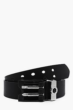 Faux Leather Belt With DIY Attachments
