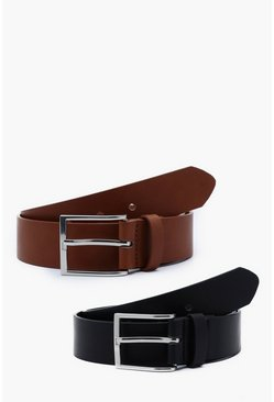 Herr Multi 2 Pack Faux Leather Belt