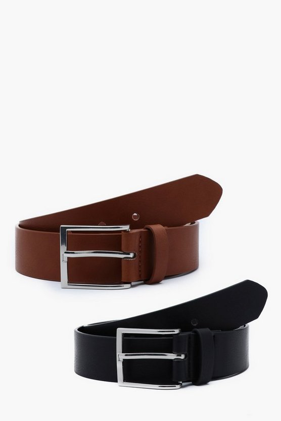 2 Pack Faux Leather Belt