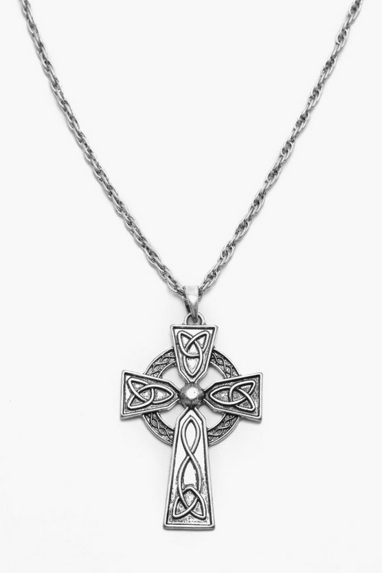 Rope Chain Cross Necklace
