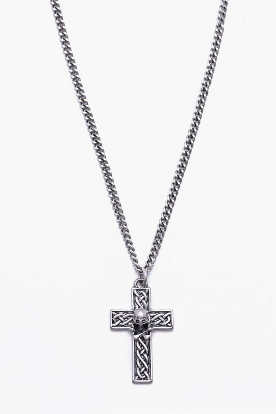 Fine Chain Cross Necklace