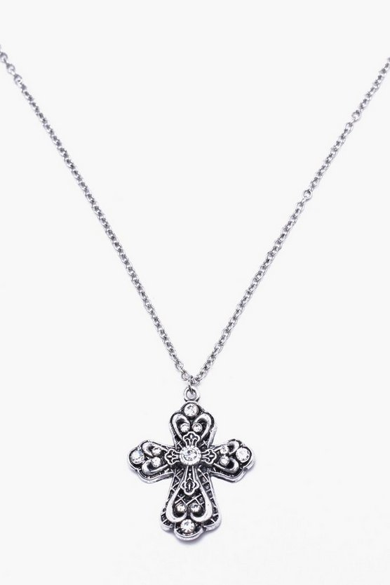 Rounded Cross Necklace