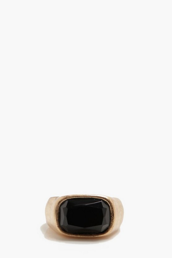 Black Stone Signet Ring