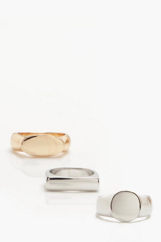 Signet Ring 3 Pack