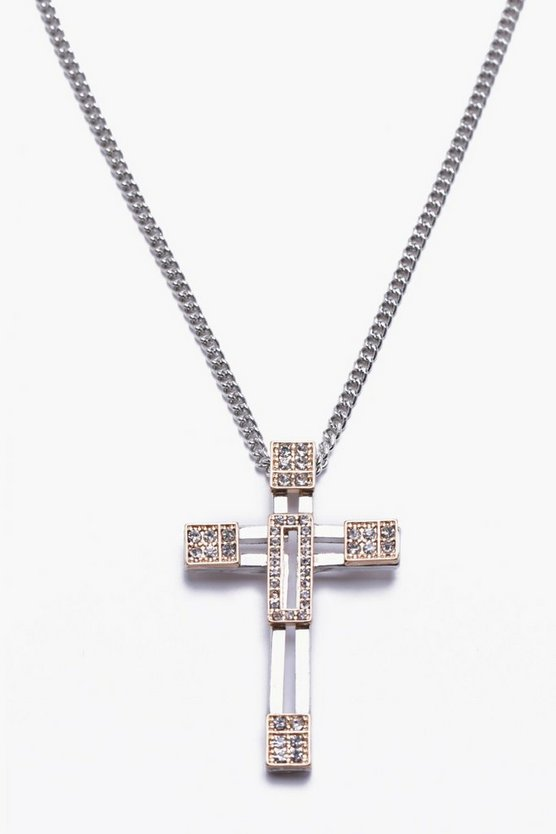 Detailed Cross Pendant Necklace