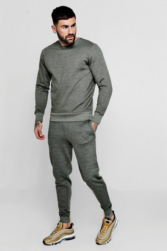 Twisted Yarn Sweater Tracksuit