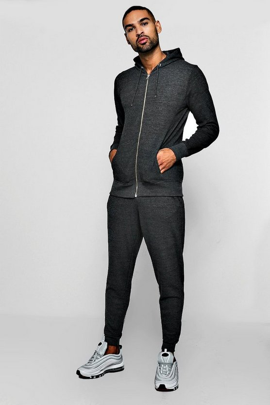 Hooded Tracksuit With Biker Details