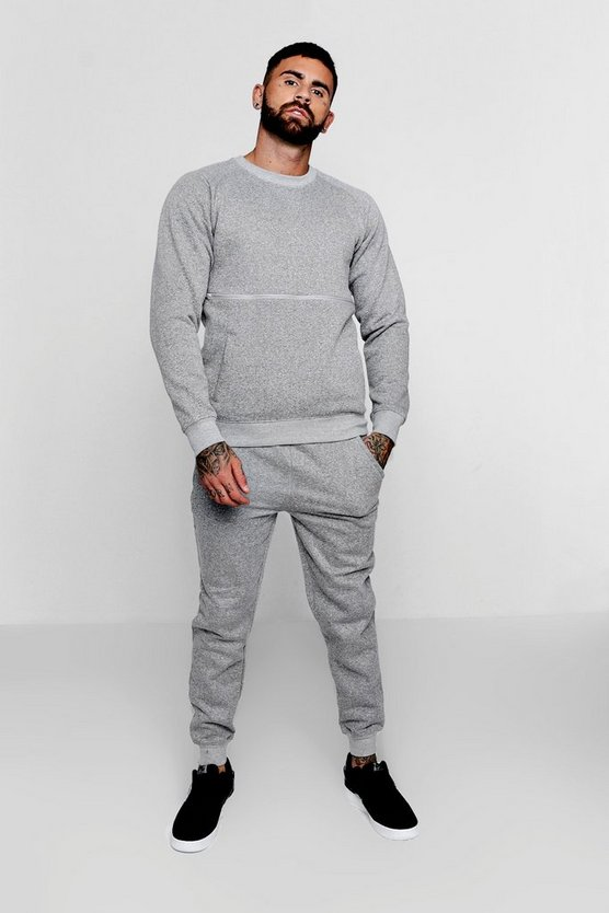 Sweater Tracksuit With Contrast Zip