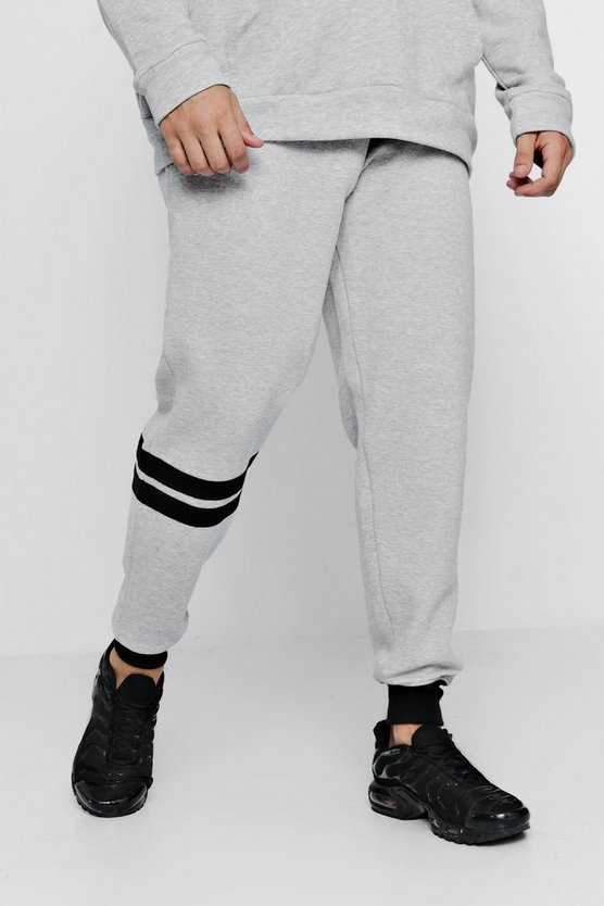 Panelled Colour Block Loose Fit Jogger