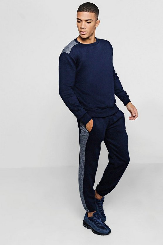Sweater Tracksuit with Contrast Panels