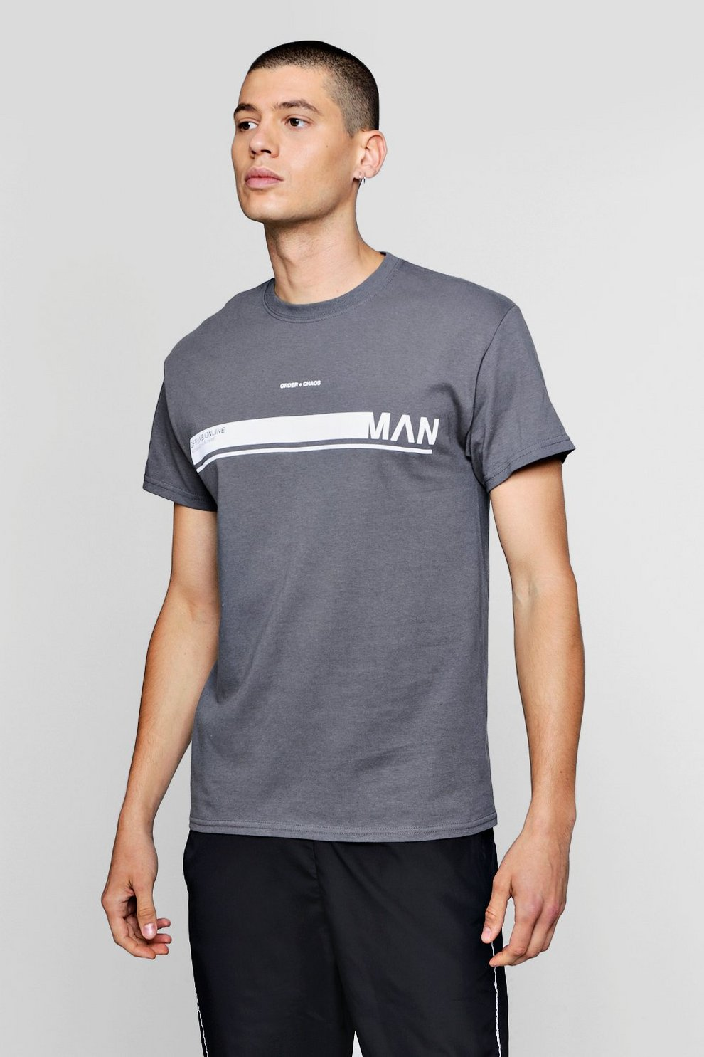 MAN Slogan T Shirt