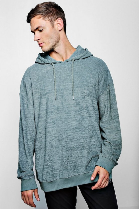 Oversized Over The Head Towelling Hoodie