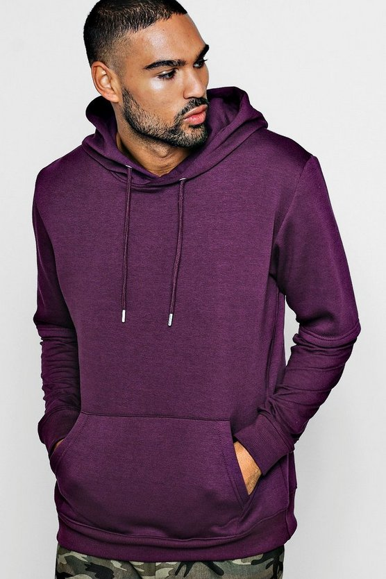 Faux Layer Jersey Fleece Hoodie