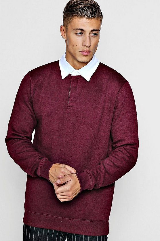 Fleece Slim Fit Rugby Top