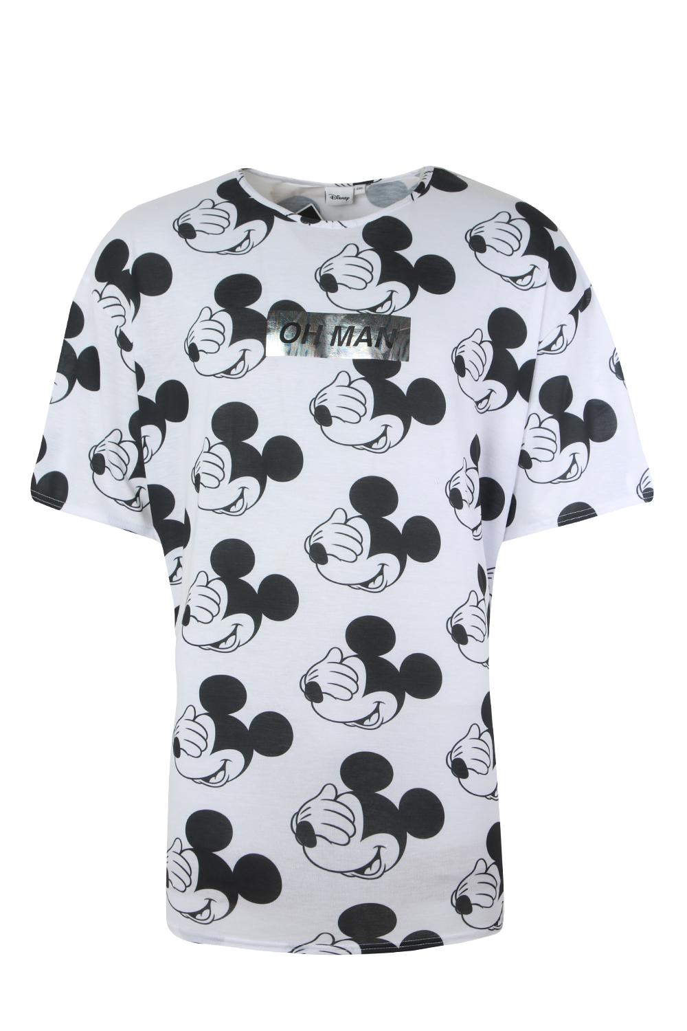 white Tall 'Oh Shirt Oversized Man' T Big Disney And q8WUP