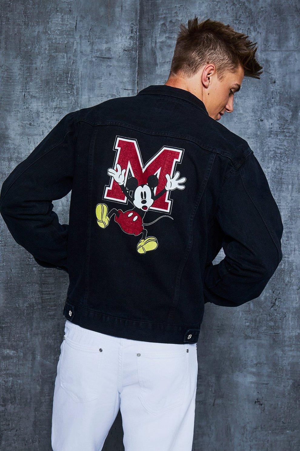 1502557d7 Disney Black Denim Jacket With Mickey Back Print