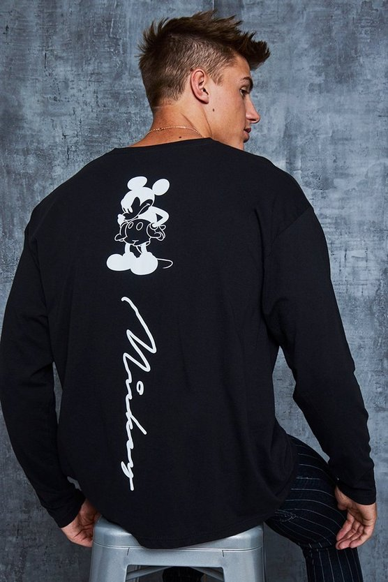 Disney Mickey Signature Back Print Oversized T-Shirt